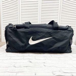 Nike Large Duffle Shoulder Bag Black Logo